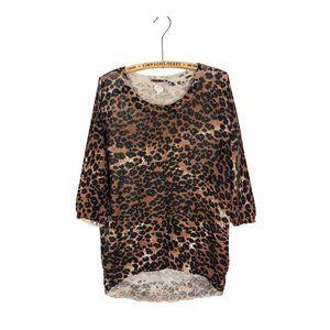 Aritzia Wilfred Cashmere Leopard Print Top